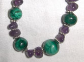 Malachite w/Amethyst Chips